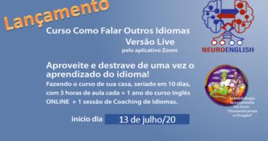 Lançamento: Como Falar Outros Idiomas – versão Live